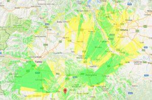 Copertura IK1JTD-R Roccaverano (AT)