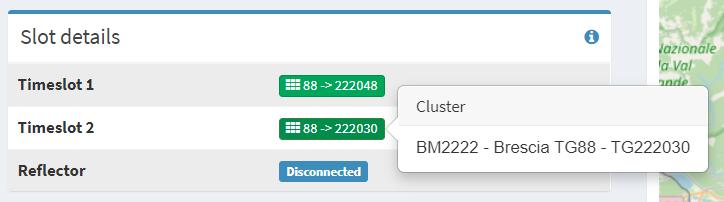 Cluster Brescia sul Time Slot 2